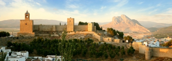View of Antequera Andalucia lovers rock and dolmens unesco sites spain