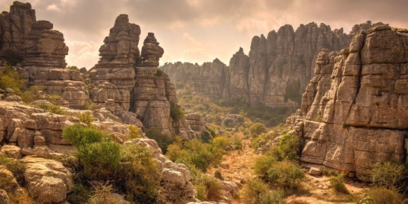 El Torcal karst landscape Andalucia Spain setting for Emerald City