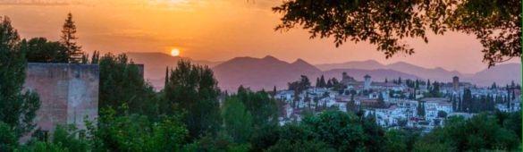 Alhambra view Granada Andalucia Spain