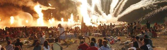 Midsummer beach party noche san juan almeria andalucia