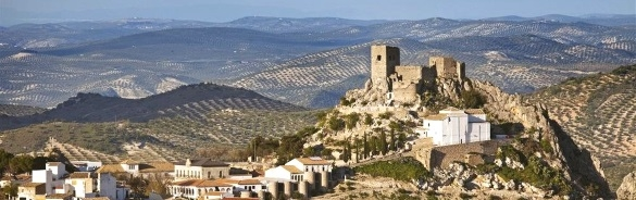 Medieval castle at Luque in the Sierras Subbeticas Andalucia