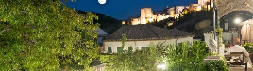 El Trillo restaurant with view of the Alhambra Granada