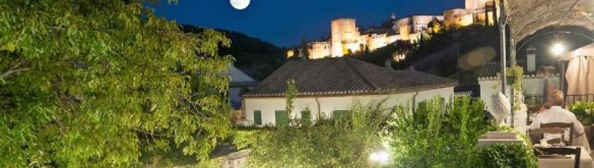 El Trillo restaurant with view of the Alhambra Granada