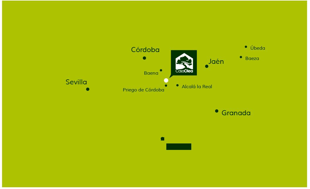 Localización de Casa Olea en Andalucía