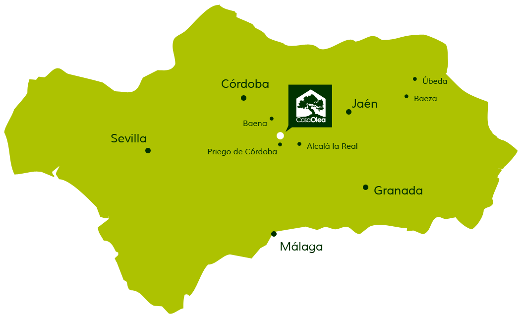 Lage der Casa Olea in Andalusien