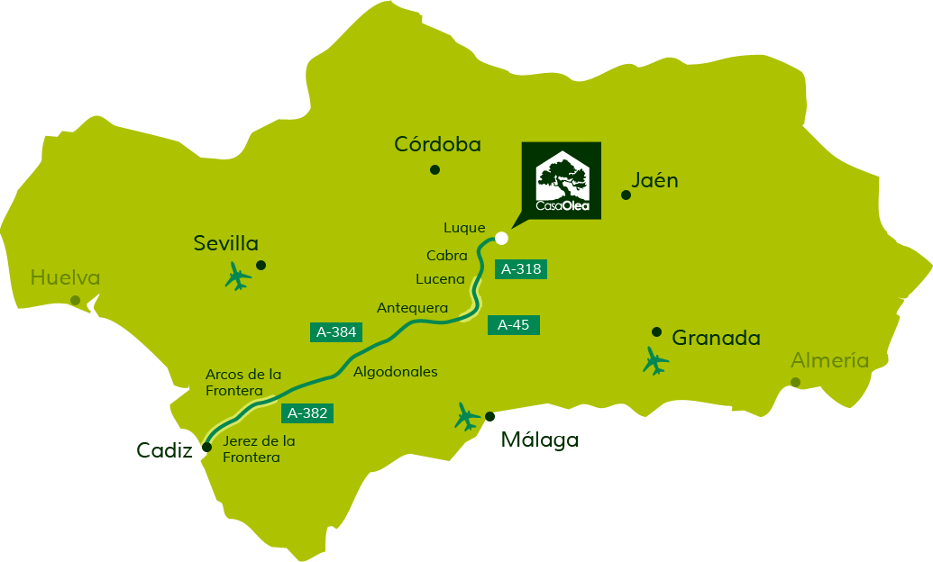 Directions to Casa Olea from Cadiz