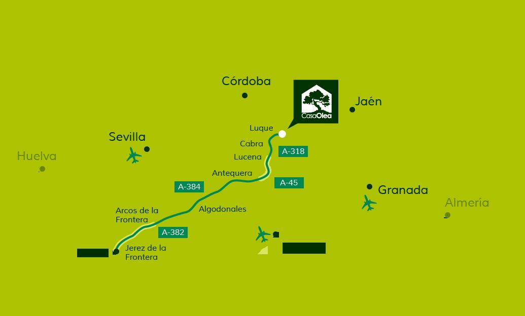 Wegbeschreibung zur Casa Olea von Cadiz