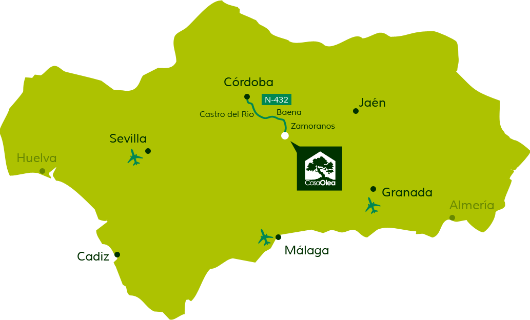 Directions to Casa Olea from Cordoba