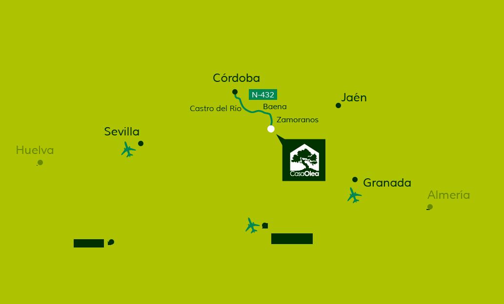Cómo llegar a Casa Olea desde Córdoba