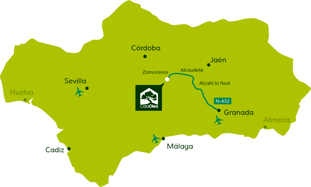 Directions to Casa Olea from Granada