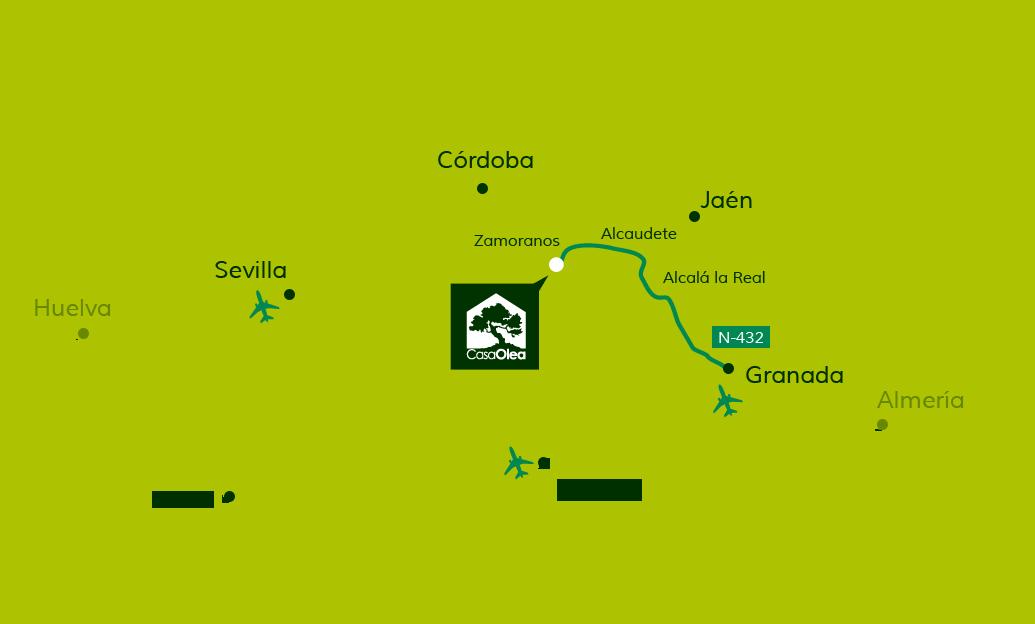 Wegbeschreibung zur Casa Olea von Granada
