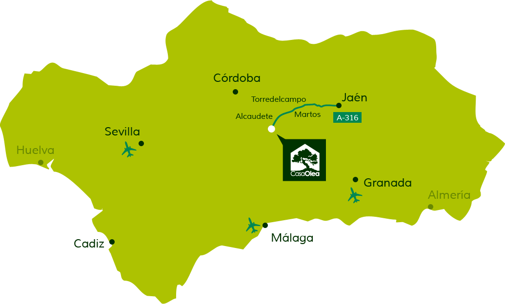 Directions to Casa Olea from Jaén