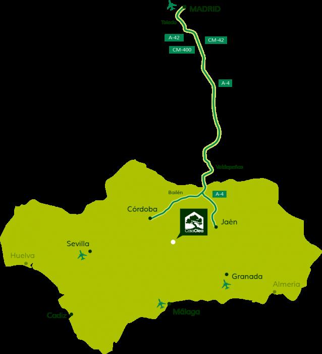 Wegbeschreibung zur Casa Olea von Madrid