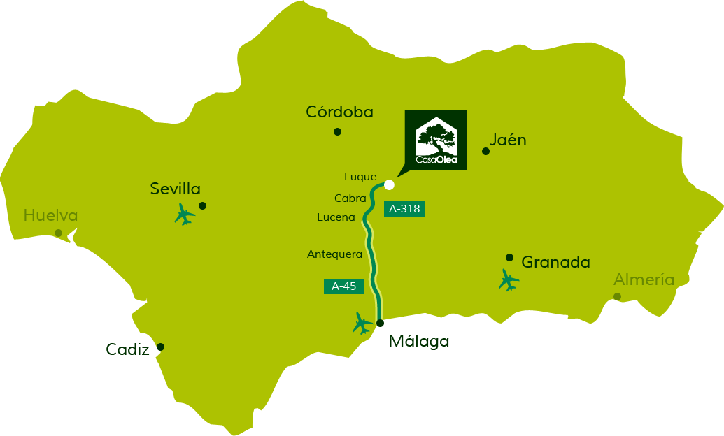 Directions to Casa Olea from Málaga