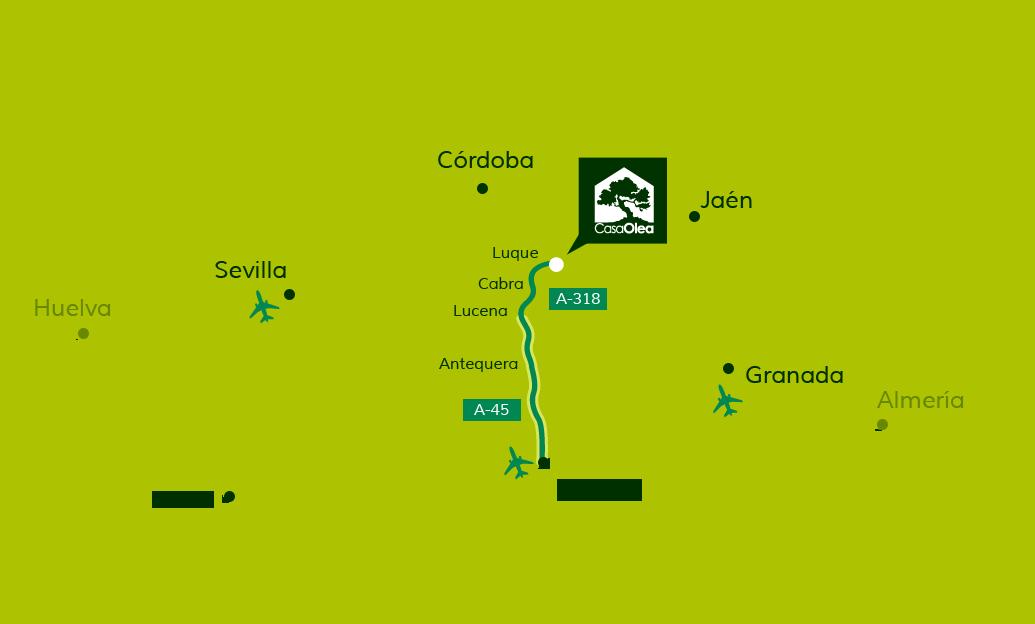 Cómo llegar a Casa Olea desde Málaga