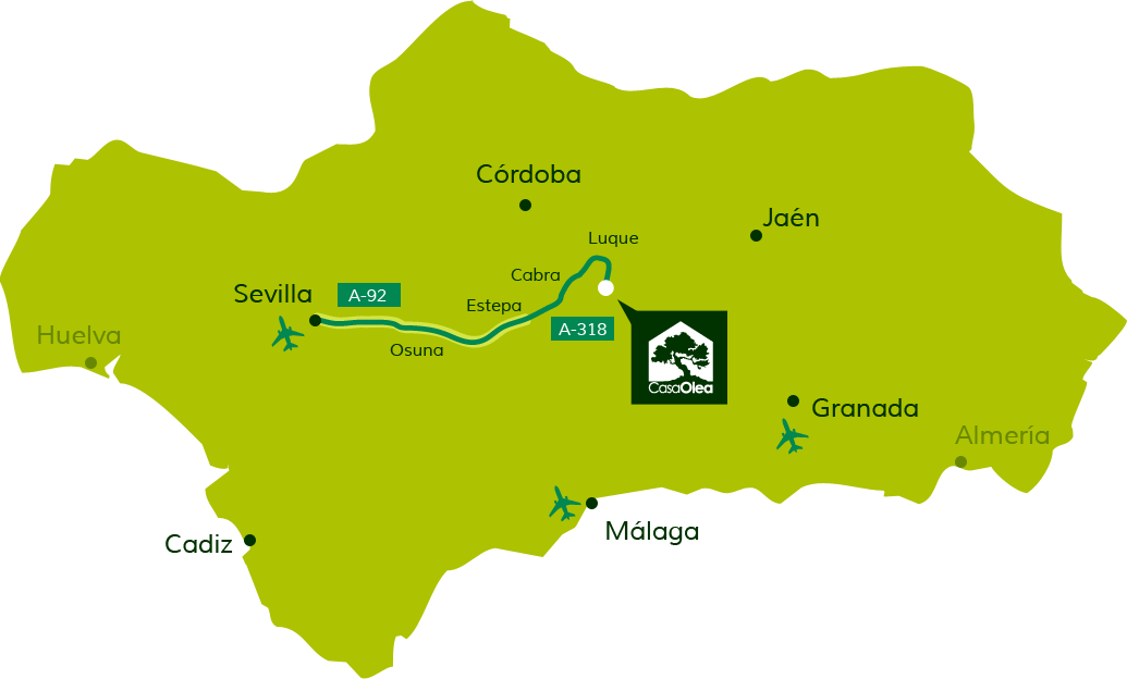 Directions to Casa Olea from Seville