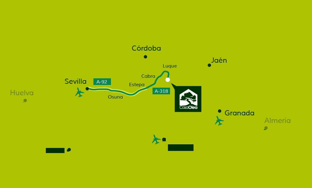 Wegbeschreibung zur Casa Olea von Sevilla