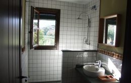 Our luxury bathrooms all boast rain-head showers, hand-made tiles and amazing views.