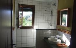 Casa Olea kleine Hotels Andalusien Dusche mit Aussicht