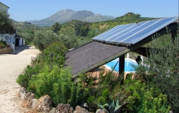 Casa Olea eco hotel Andalucia Spain with solar panels