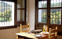 Enjoy a home-cooked meal in our lovely dining room, with wonderful views of the river and mountains
