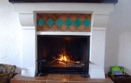 Come back from a winter's walk to a cosy log fire, hot shower and under-floor heating at Casa Olea.