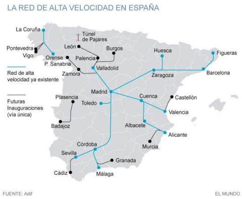 Trains In Spain Map.Top 10 Places To See In Spain 2016 Casa Olea